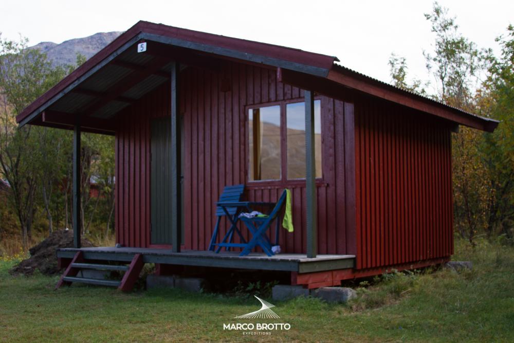 Cabanas no camping de Birtavare , Noruega