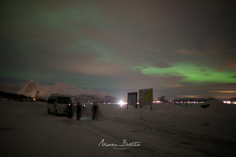 Uma das paradas para observar a Aurora Boreal