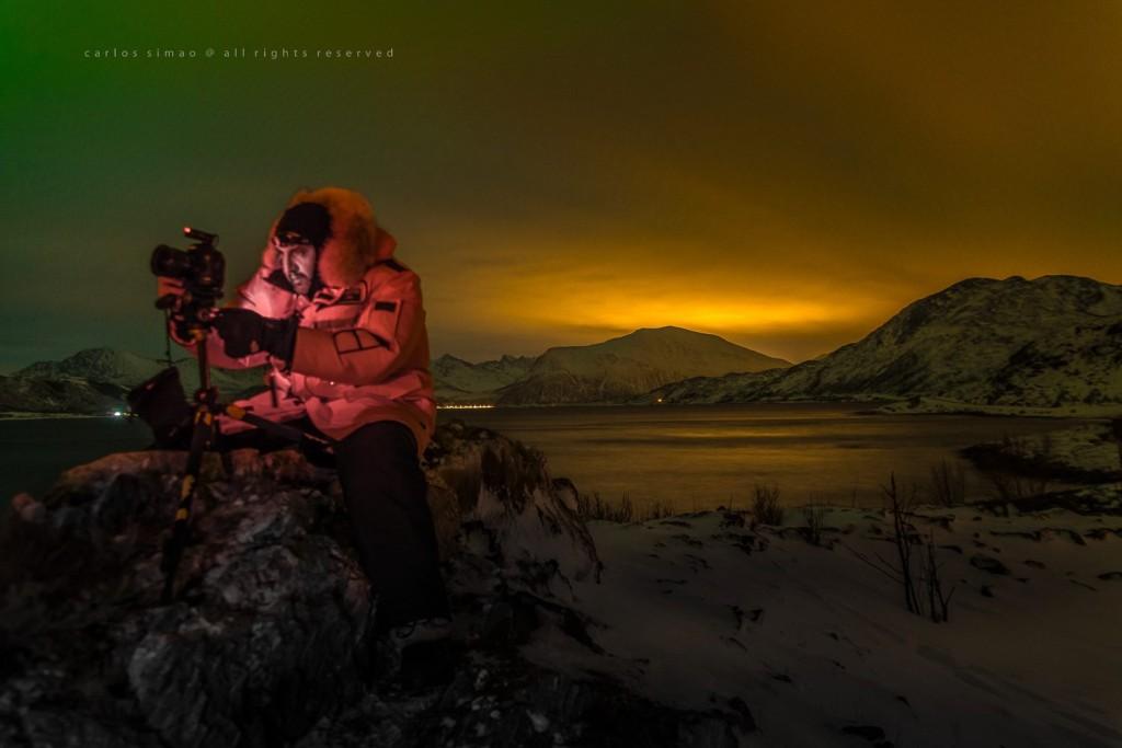 A emocao de fotografar a aurora boreal