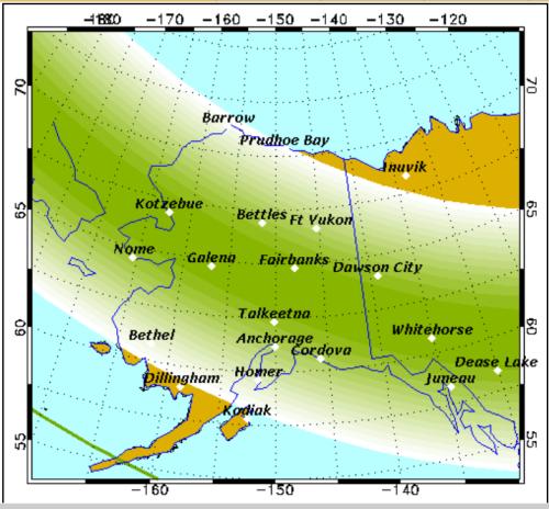 Na noite de 18 para 19 é possível uma atividade Kp5 , esse grafico n!ão pode determinar que haverá aurora com certeza mas já é um bom inicio.