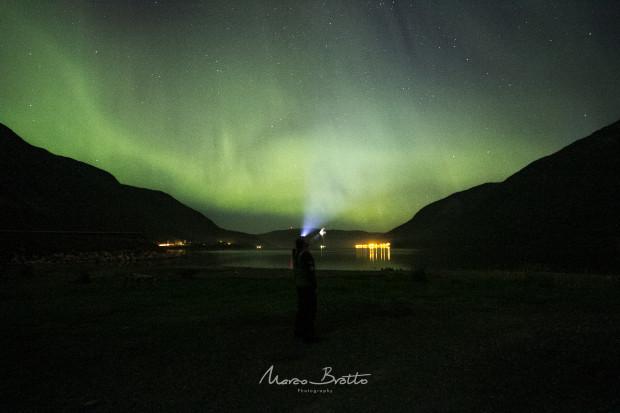 Foram muitas horas de aurora boreal que até deu tempo pra fazer uma selfie :)