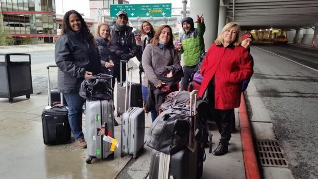 Pessoal chegando em Anchorage . Daqui pra frente será corrida atras da Aurora Boreal Alasca.