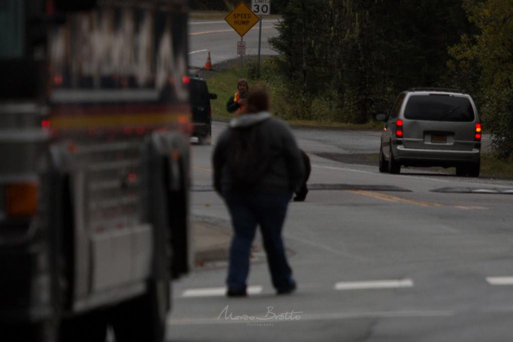 """Repare atras do """"elemento""""existe um urso atravessando a rua. :)"""