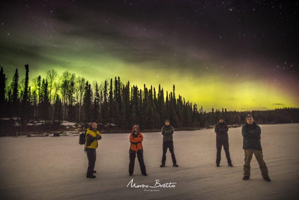 Os caçadores de Aurora Boreal no Alasca.