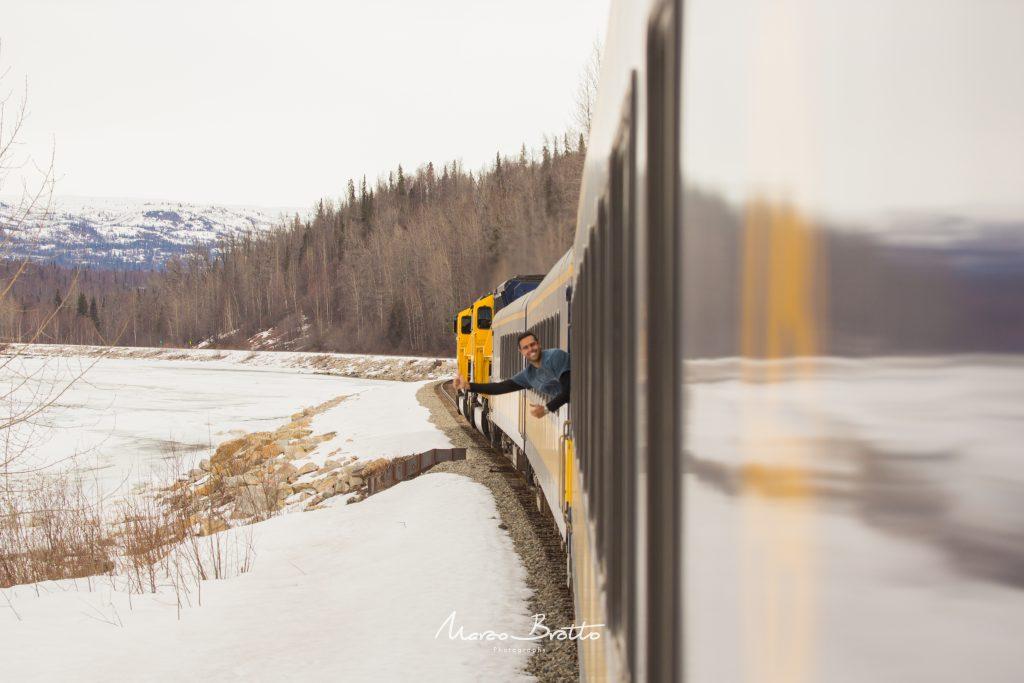 A famosa estrada de ferro do Alasca ...