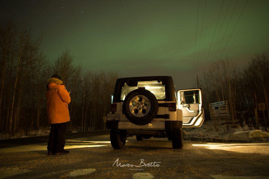 caçar aurora boreal no Canadá