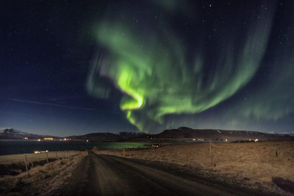 aurora boral na islandia ver