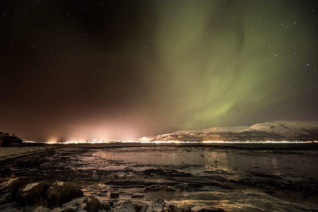 melhores lugares para ver aurora boreal tromso