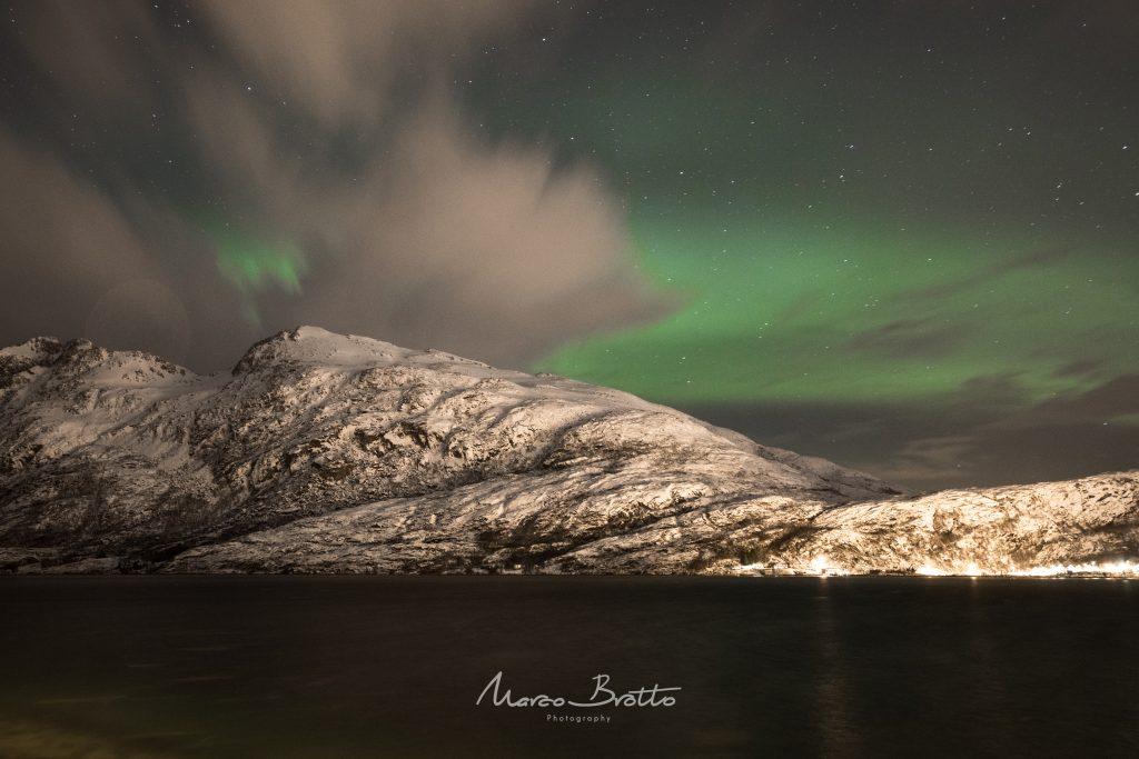 aurora boreal na noruega natal tromso