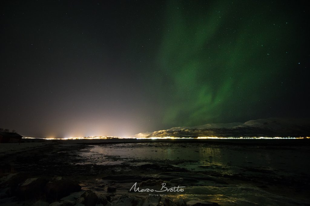 aurora boreal no natal na noruega