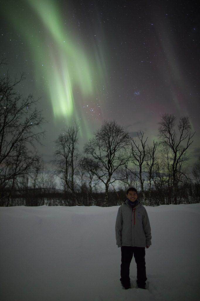 ver aurora boreal na lapônia com marco brotto