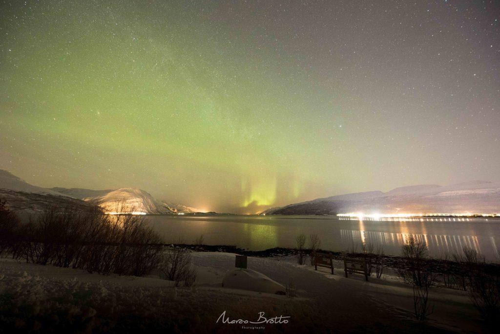 aurora boreal na lapônia com marco brotto