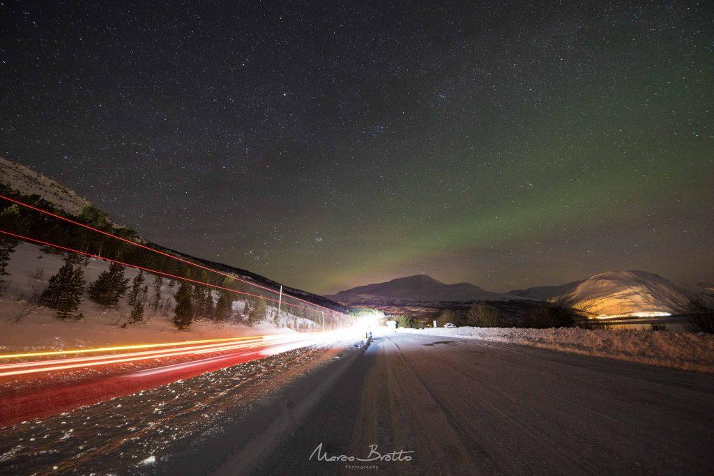 aurora boreal na lapônia e fjords