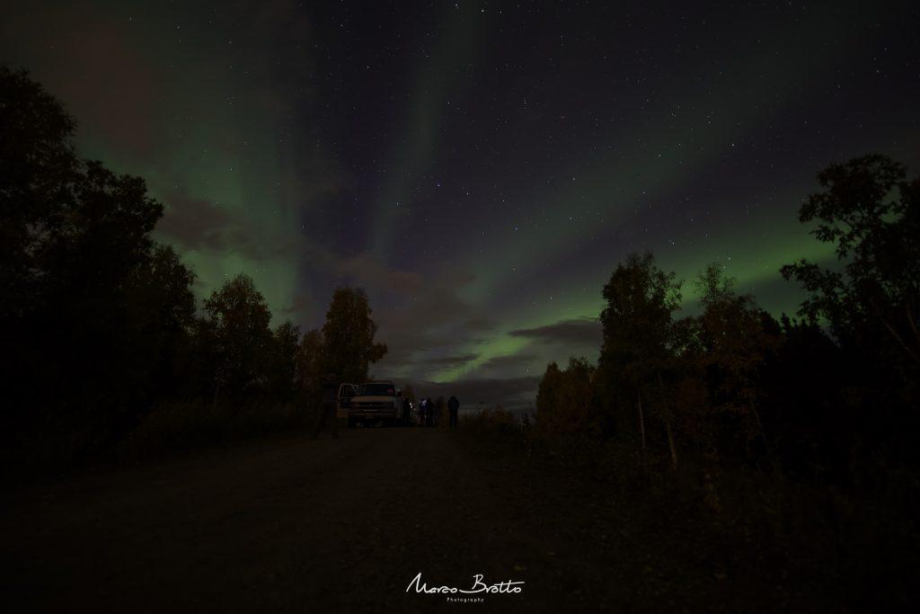 aurora boreal no alaska nas tundras