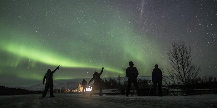aurora boreal caçada novembro