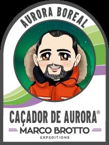 Marco Brotto caçador de Aurora Boreal