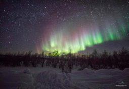 Aurora Boreal na Finlândia com o Caçador de Aurora Boreal