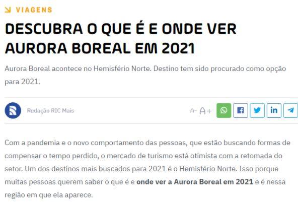 Marco Brotto dá entrevista ao Portal RIC Mais