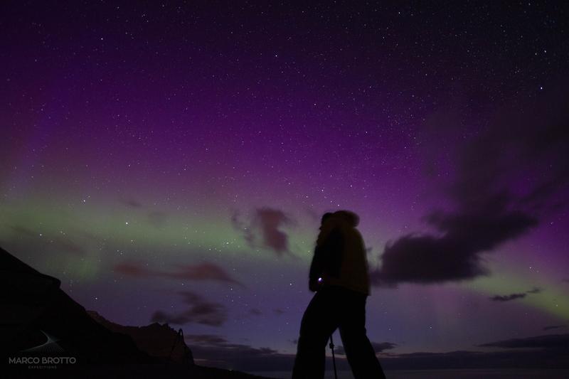 aurora na ilhas faroé