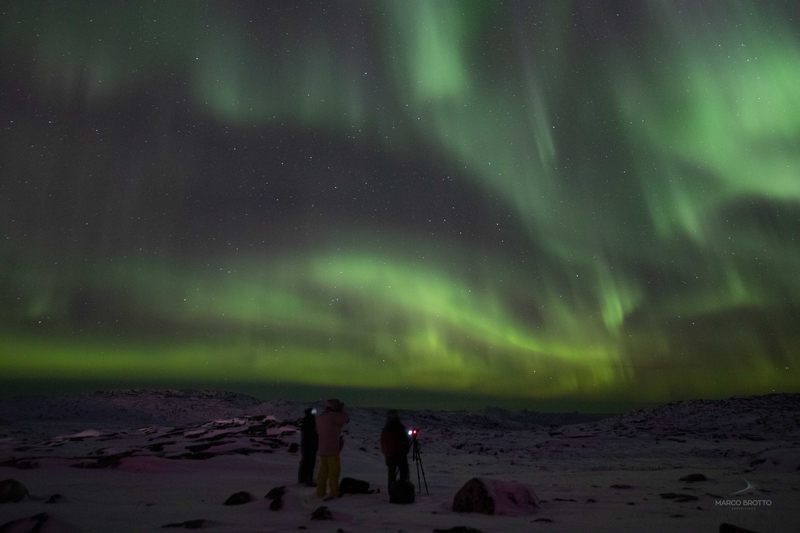 imagens e aurora boreal na groenlândia