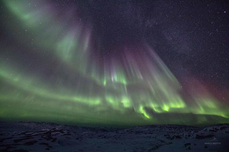 aurora boreal na groenlândia