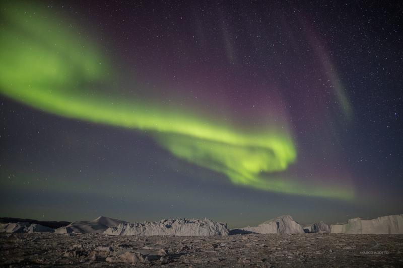 aurora na groenlândia