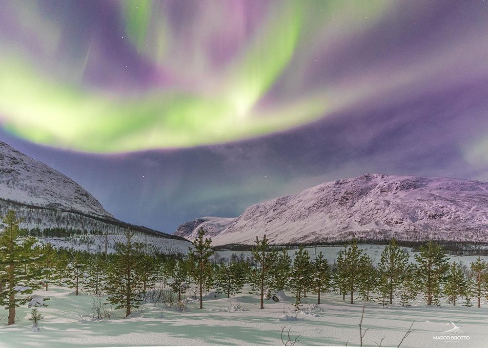 aurora boreal na Lapônia