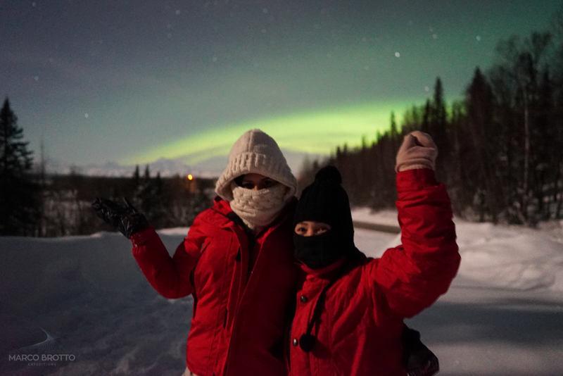 imagem aurora boreal no alasca