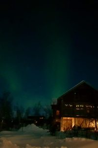 fotos aurora boreal casa