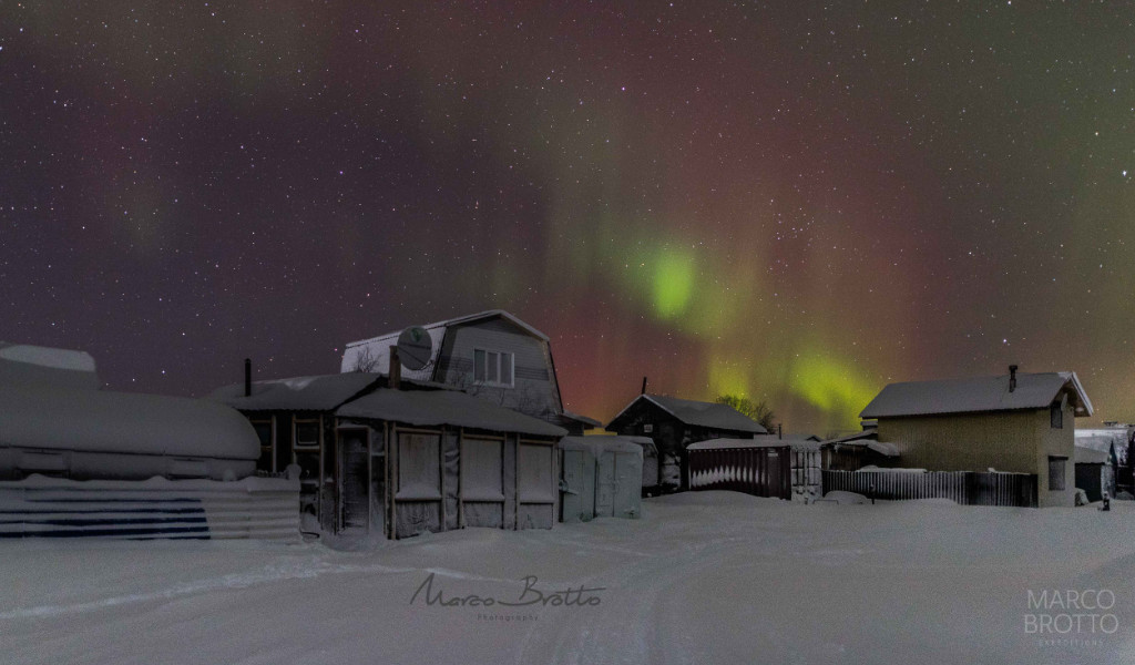 aurora boreal na russia