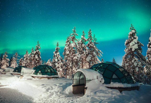 Iglus de Cristal na Finlândia para ver a Aurora Boreal