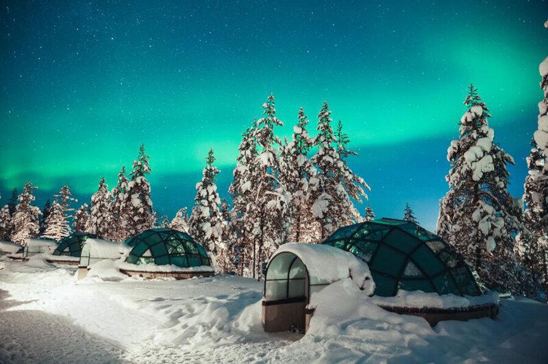 Iglus de cristal: um local singular para ver a Aurora Boreal