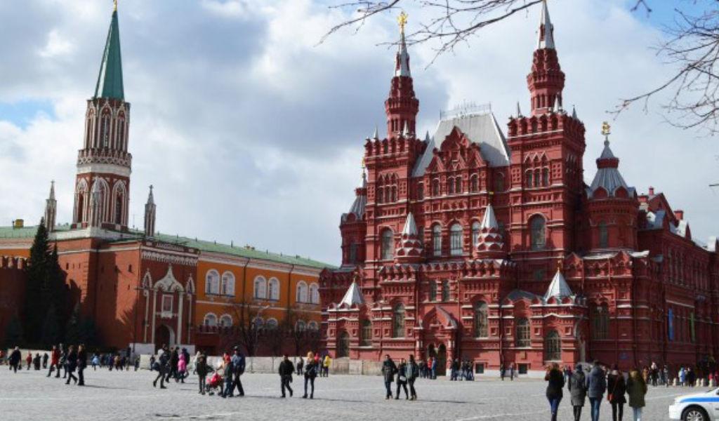 Praça Vermelha na Russia