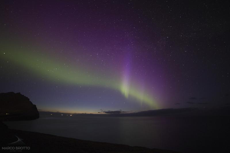 Aurora Boreal nas Ilhas Faroé