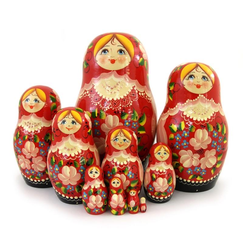 Bonecas Matrioshka Aurora Boreal Rússia