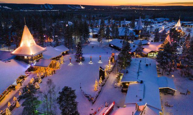 Vila do Papai Noel na Lapônia